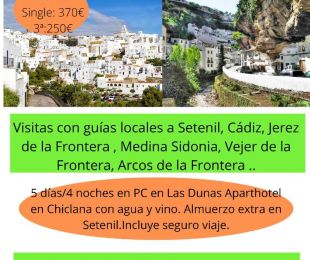 Pueblos Blancos de Cádiz del 22 al 26 de Octubre