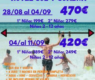 BENIDORM Hotel Sol y Sombra AGOSTO/SEPTIEMBRE 2021