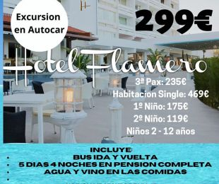 MATALASCAÑAS HOTEL FLAMERO DEL 1 AL 5 SEPTIEMBRE